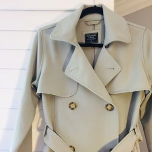 Abercrombie mint green trench coat
